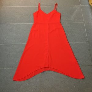 ASOS Red Button Front Summer Dress